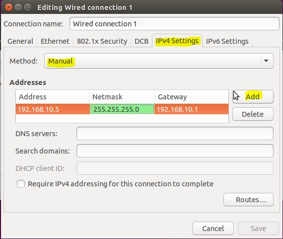 Assign Manual IP Address for Ubuntu To Network Ubuntu and Windows 10
