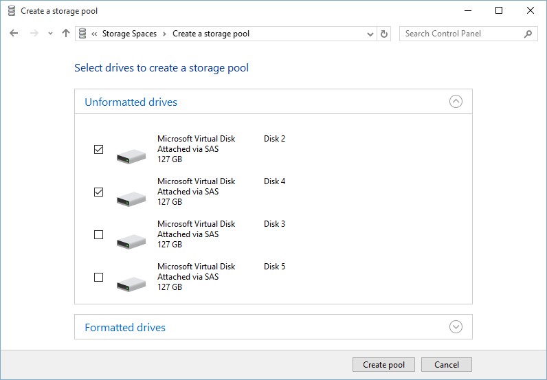 Create a Storage Pool to Setup Windows 10 Storage Spaces - Technig