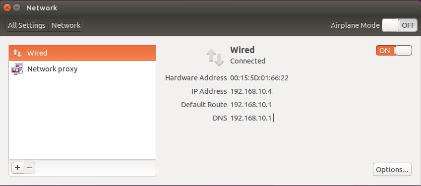 Get IP address from DHCP