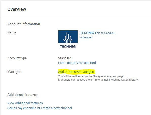 How to Add Manager to YouTube Channel? - TECHNIG