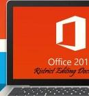 Restrict Editing Document - Technig