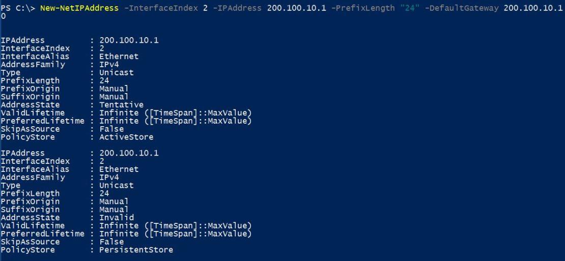 Assign IP Address with PowerShell - Configure IP Address Using PowerShell