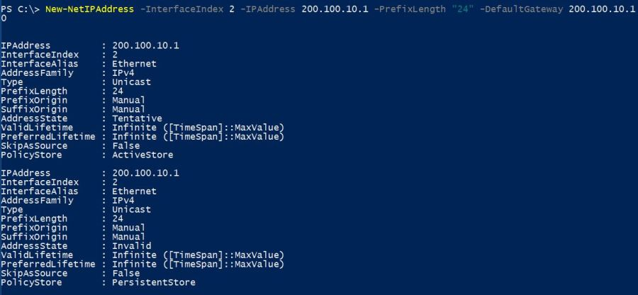 Assign IP Address with PowerShell - Configure IP Address Using PowerShell