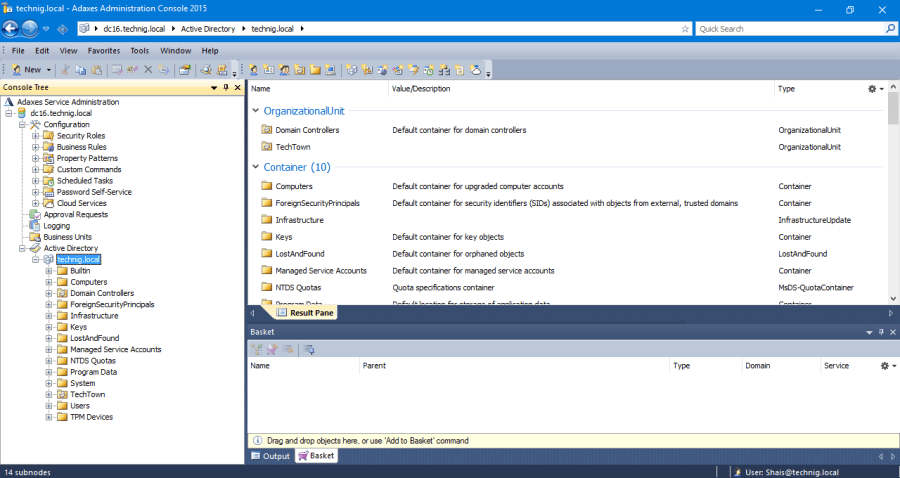 Adaxes Active Directory Administration Console