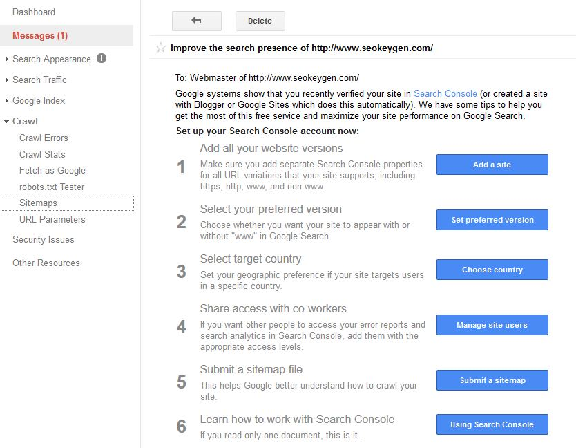 Google Webmaster Website Submission Step by Step