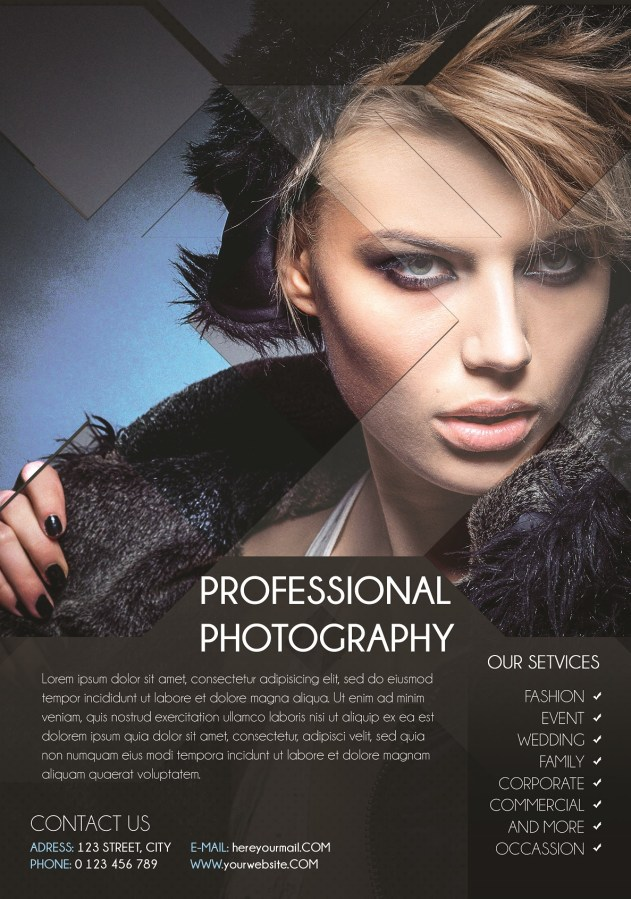 Design Photography Flyer Using Photoshop - Technig