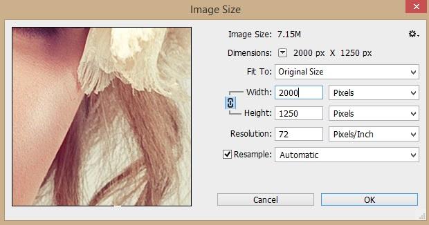 Image Size - Technig