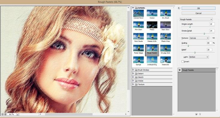 Photoshop Filter Gallery - Technig
