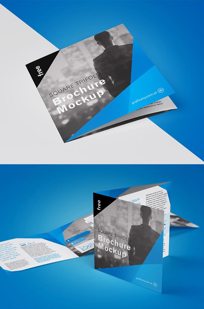 Free PSD Tri-Fold Brochure Mock-ups