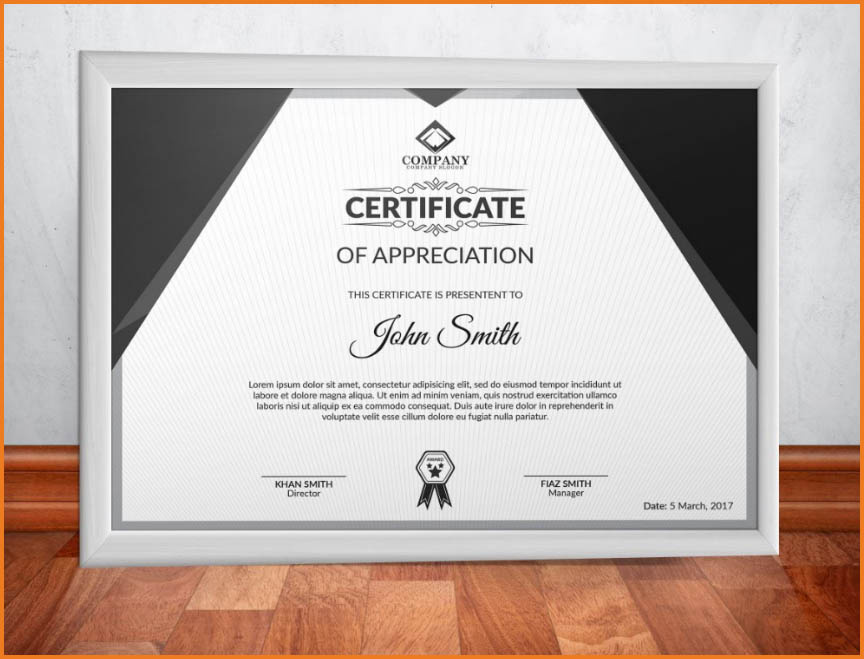 Design Professional and Modern Certificate Using Photoshop - Technig