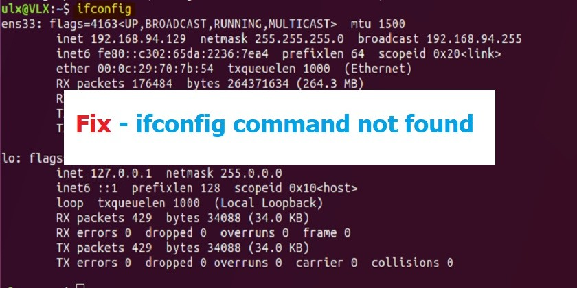 Fix Ifconfig Command not found in Linux Operating Systems - Technig
