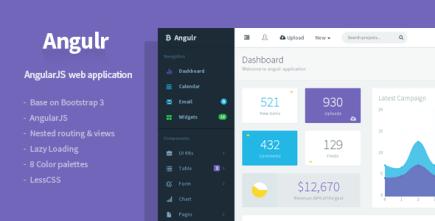 Angulr - Bootstrap Admin Web App with AngularJS