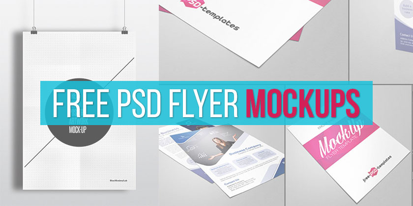 Free Flyer Templates Best 10 Free Psd Flyer Mockup Templates