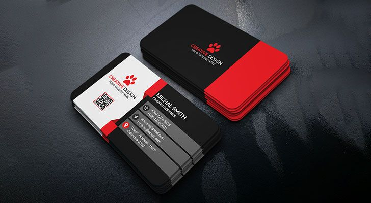 Top 20 free business card templates with psd files technig free business card templates technig flashek Images