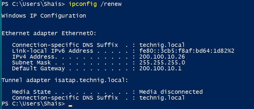 restart network adapter windows 10 command line