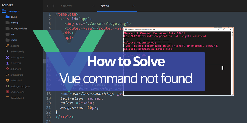 How to Solve vue Command not found on Windows - Technig