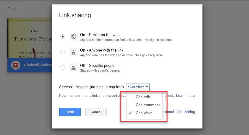 Google Drive Public Link Sharing Permissions - Technig