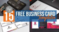 Top 15 Free Business Card Templates - Technig