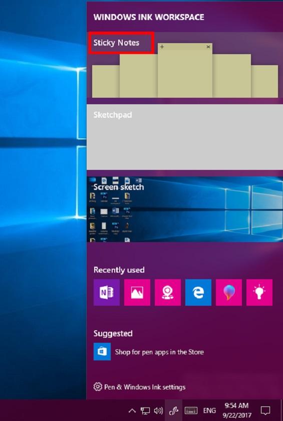 Windows Ink Workspace in Windows 10