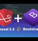 how to configure laravel 5 5 with bootstrap 4