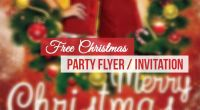 Christmas Party Flyer and Invitation Template - Technig