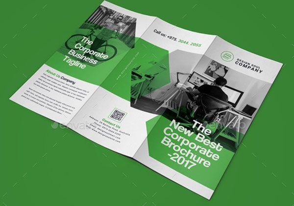Corporate Green Trifold Brochure - Technig