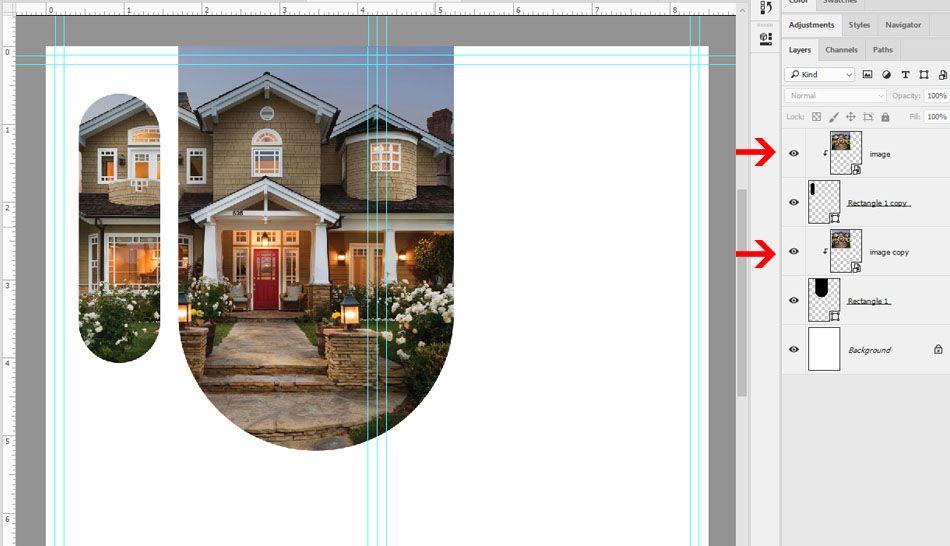 Photoshop Clipping Mask Option - Technig