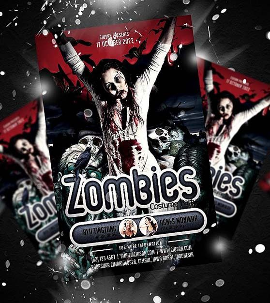 Zombies Poster Template - Technig