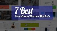 7 Best WordPress Themes Markets - technig