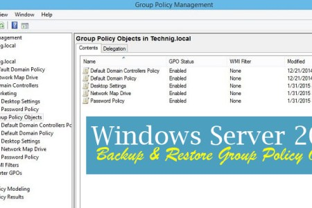 How to Backup/Restore Group Policy Object in Windows Server