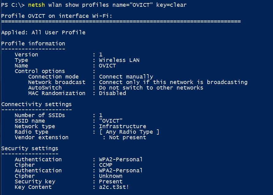 Find WiFi Password in Windows 10 with Command Line - Technig