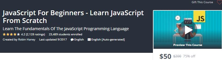 Learn JavaScript with Udemy Online Classes - Technig