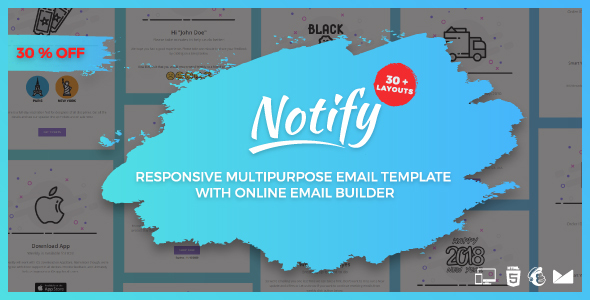 The Notify - Responsive Multipurpose Email Template