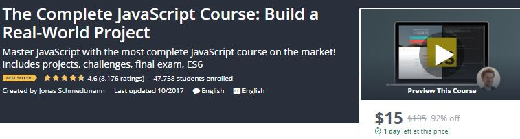 Udemy Learn JavaScript With the most complete online classes -Technig