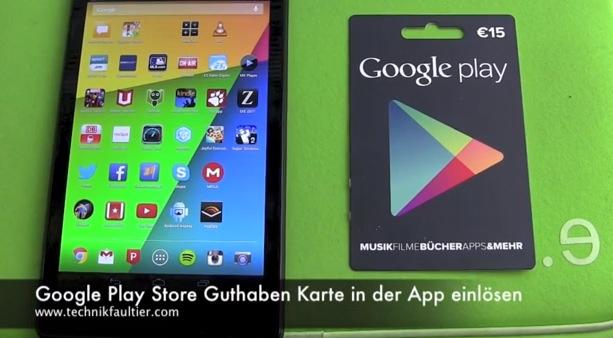 Playstore Karte.Google Play Store Guthaben Karte In Der App Einlösen Technikfaultier