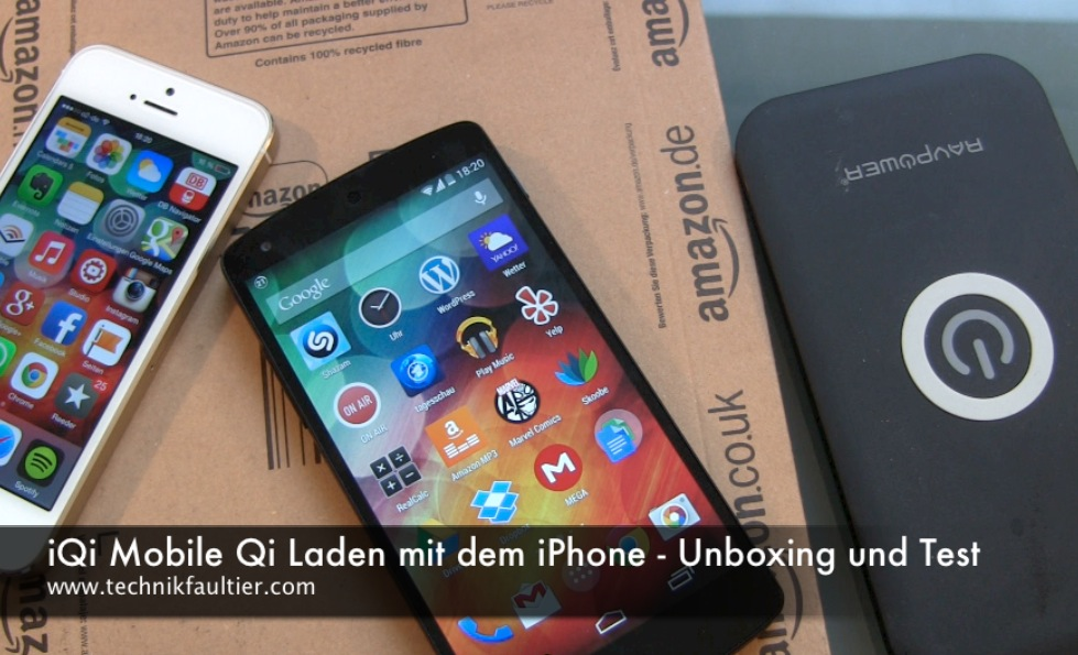 Iqi mobile qi laden mit dem iphone unboxing und test for Laden mobel