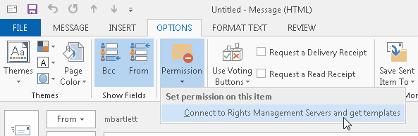 Connect to RMS option