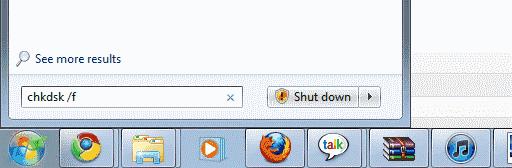 Running Chkdsk in Windows 7