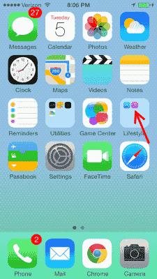 iTunes Store icon in folder