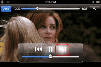 iOS Video Forward button