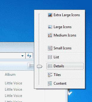 Win7 Set folder to Details