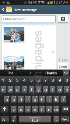 S4 Compose message with attachments
