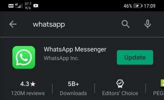update whatsapp android