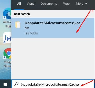 microsoft teams cache folder