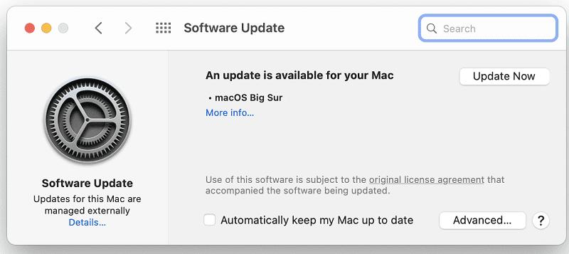 update macos version