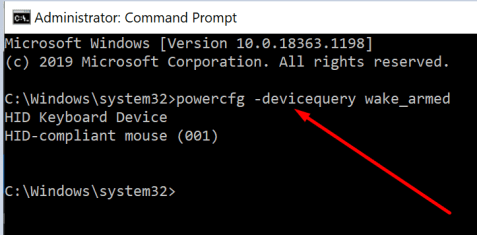 check what device can wake up windows 10 pc