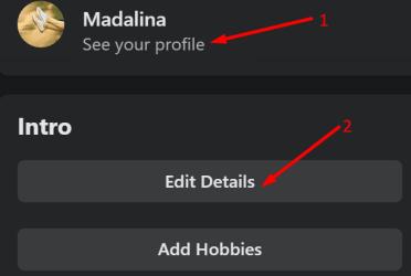 facebook profile intro edit details