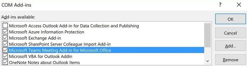 Microsoft Teams Meeting Add-in for Office