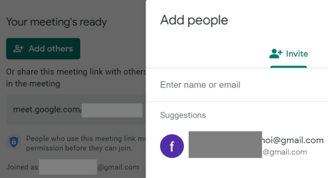 add people to google meet