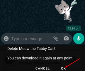 delete whatsapp sticker